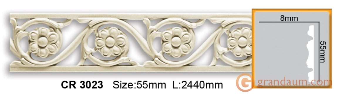 Молдинг фоновый Gaudi decor CR3023 (2,44м)