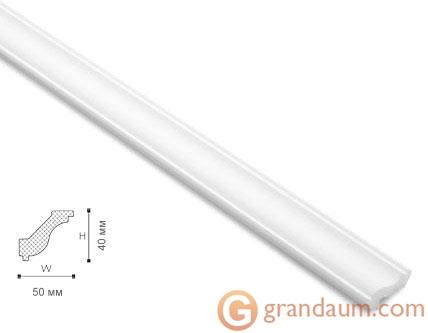 Потолочный плинтус с гладким профилем NMC LX46