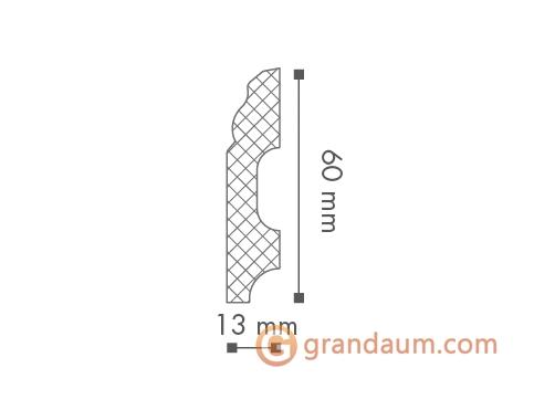 Напольный плинтус с гладким профилем NMC FB1
