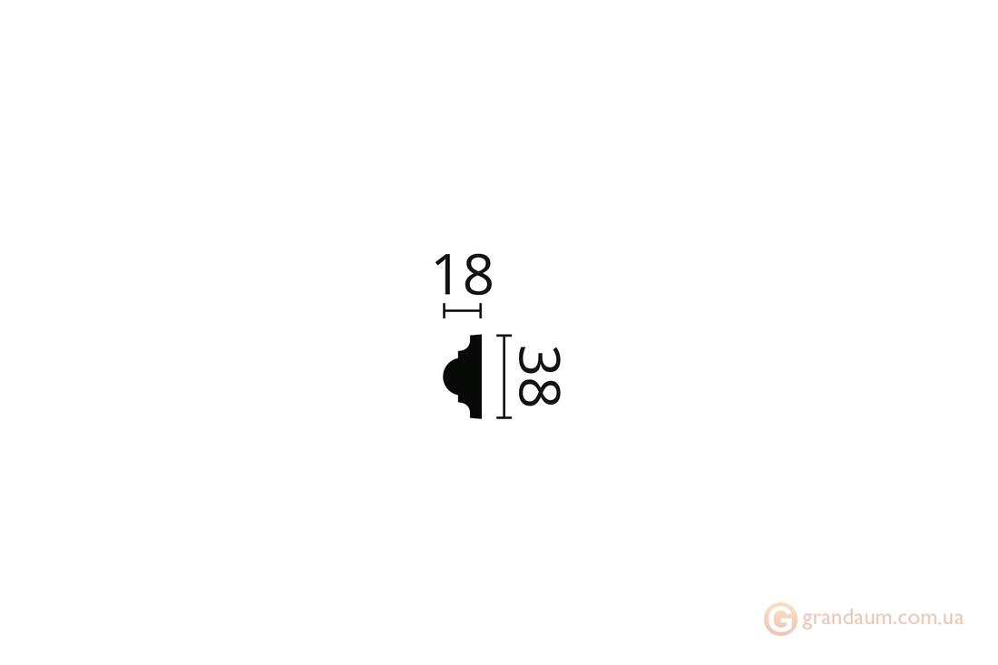Молдинг с гладким профилем NMC WL1 (2,0)