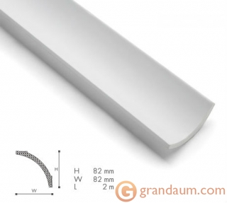Потолочный плинтус с гладким профилем NMC B8
