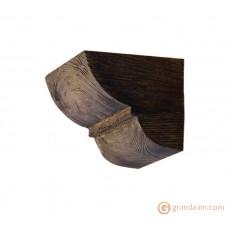 Декоративная балка, Консоль Decowood Модерн ED 015 classic темная 19х17