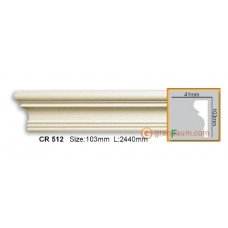 Молдинг гибкий Gaudi decor CR512 (2,44м) Flexi