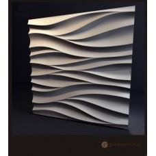3D панели из гипса Волна