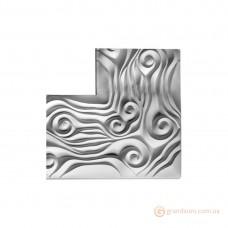 Гипсовая лепнина, Декоративный угол из гипса У-137 h200х200мм