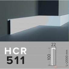 Напольный плинтус с гладким профилем Grand decor HCR 511 (2,00м)