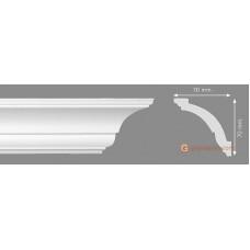 Потолочный плинтус с гладким профилем, багет Homestar A-S 70*70ММ