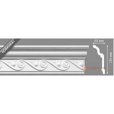 Потолочный плинтус с орнаментом, багет Homestar Amelia 55*135ММ