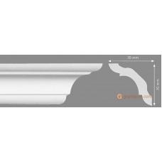 Потолочный плинтус с гладким профилем, багет Homestar C-100 70*70ММ