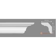 Потолочный плинтус с гладким профилем, багет Homestar C-70 55*55ММ