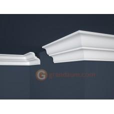 Потолочный плинтус с гладким профилем, багет Marbet E10