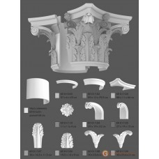 Базы и капители Modus decor КЛ 017.09