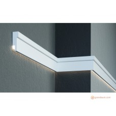 Молдинг фасадный для скрытого освещения Prestige decor MC 306LED (2.00м)