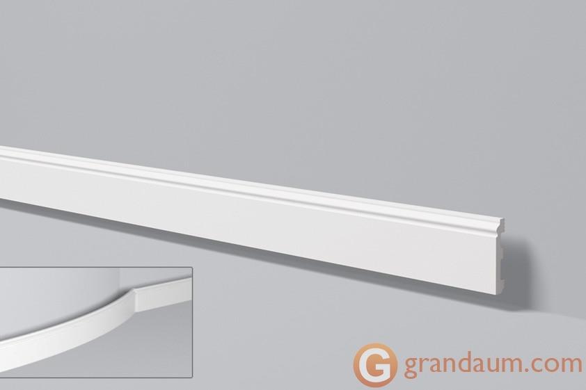 Напольный плинтус с гладким профилем NMC FL1 (2,44м)