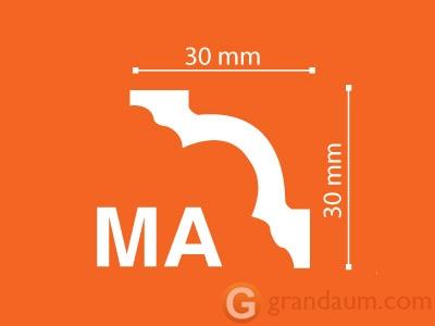 Потолочный плинтус с гладким профилем NMC MA