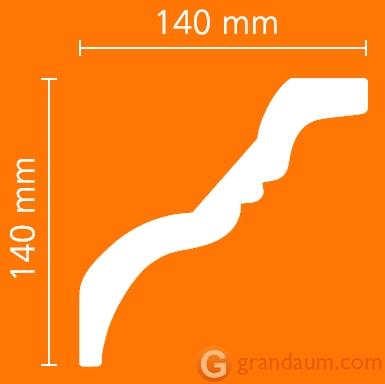 Потолочный плинтус с гладким профилем NMC TI